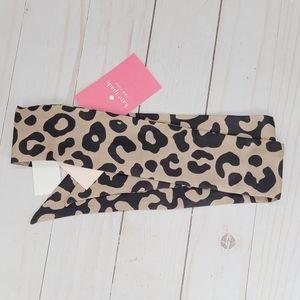 Kate Spade Leopard Skinny Scarf Twilly